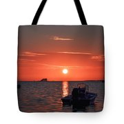 On The Gulf At Sunset Tote Bag