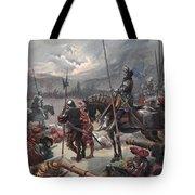 On The Night Of Marignan, Illustration Tote Bag