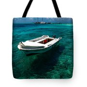 On The Peaceful Waters. Maldives Tote Bag