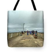 On The Pier At Pacifica Tote Bag