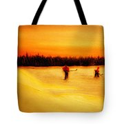 On The Pond With Dad Tote Bag by Desmond Raymond