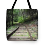 Victorian Locomotive Tracks Tote Bag