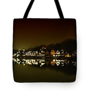 On The River At Night -  Boathouse Row Tote Bag