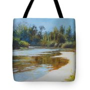 On The River Tote Bag by Nancy Stutes