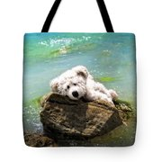 On The Rocks - Teddy Bear Art By William Patrick And Sharon Cummings Tote Bag