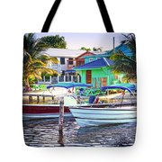 On The Waterfront Caye Caulker Belize Tote Bag