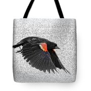 On The Wing - Red-winged Blackbird Tote Bag