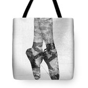 On Tippie Toes In Black And White Tote Bag