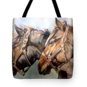 Horse In Watercolor On Watch Tote Bag