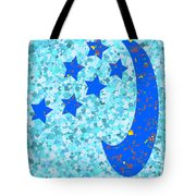 Once In A Blue Moon Also Got 5 Stars Signature Art  Navinjoshi Artist Created Images Textures Patter Tote Bag