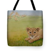 Once There Was A Lion Named Leo Tote Bag