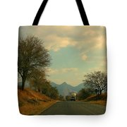 Oncoming Truck Tote Bag