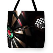 One Arrow In The Centre Of A Dart Board Tote Bag