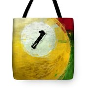 One Ball Billiards Abstract Tote Bag