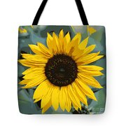 One Bright Sunflower - Digital Art Tote Bag