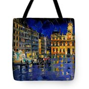 One Evening In Terreaux Square Lyon Tote Bag