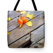 One Golden Leaf Tote Bag