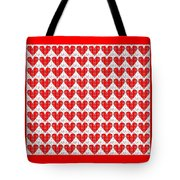 One Hundred Hearts Tote Bag