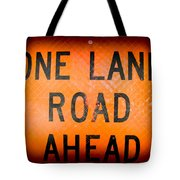 One Lane Road Tote Bag