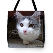 One Legged Kitty Tote Bag