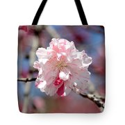 One Pink Blossom Tote Bag by Carol Groenen