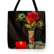 One Red Christmas Rose Tote Bag