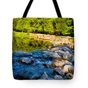 One River - Three Flows Tote Bag