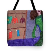 One Size Down Tote Bag