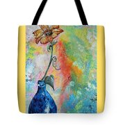 One Solitary Flower Tote Bag by Eloise Schneider