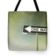 One Way Road Sign Tote Bag