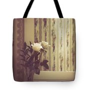One White Rose Tote Bag