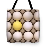 One Yellow Egg With White Eggs Tote Bag
