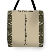 O'neill Written In Ogham Tote Bag