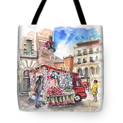 Onion And Garlic Street Seller In Siracusa Tote Bag