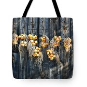 Onions And Barnboard Tote Bag