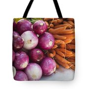 Onions And Carrots Tote Bag