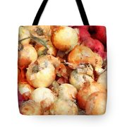 Onions Closeup Tote Bag