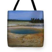 Opal Pool Panorama Yellowstone Tote Bag