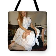 Open Back Bloomers On A Naughty Maid Tote Bag