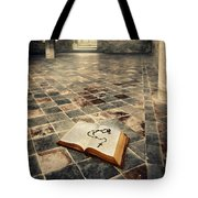 Open Book And Roasary On The Floor Tote Bag