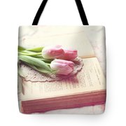 Open Book Tote Bag
