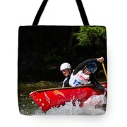Open Canoe Whitewater Race - Panorama Tote Bag