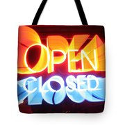 Open Closed Tote Bag