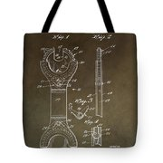 Open End Ratchet Wrench Patent Tote Bag