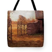Open Gate By Cottage Tote Bag