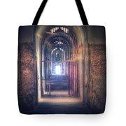 Open Gate To Prison Hallway Tote Bag