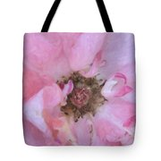 Open Pink Rose Tote Bag