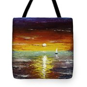 Open Sea Tote Bag by Gray  Artus