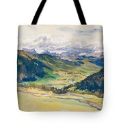 Open Valley. Dolomites Tote Bag