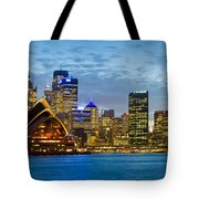 Opera House And Buildings Lit Tote Bag